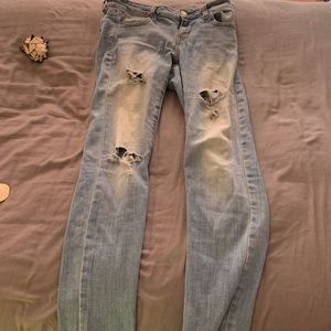American Eagle Light Ripped Jeans